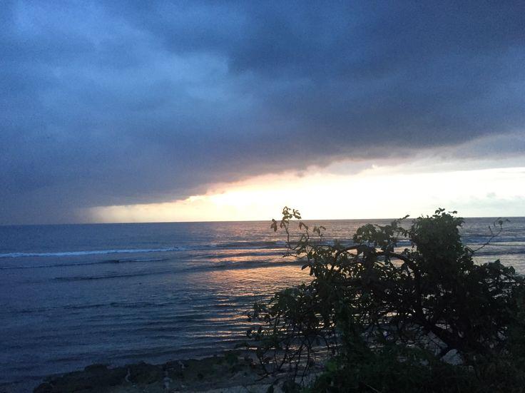 Sunset at senggigi beach, Lombok island, Indonesia