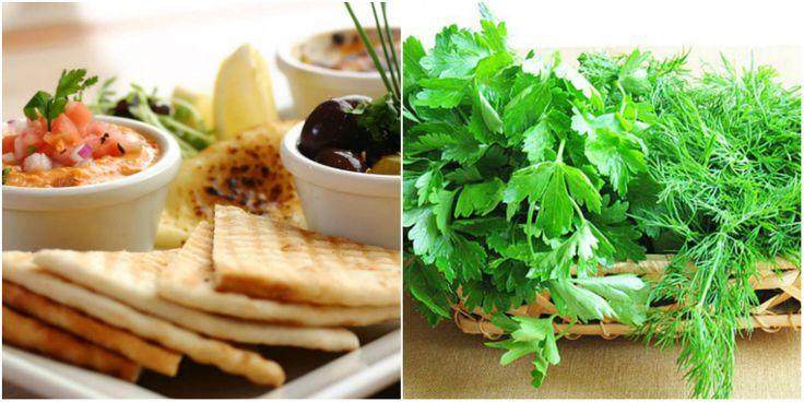 зелень и белковая пища