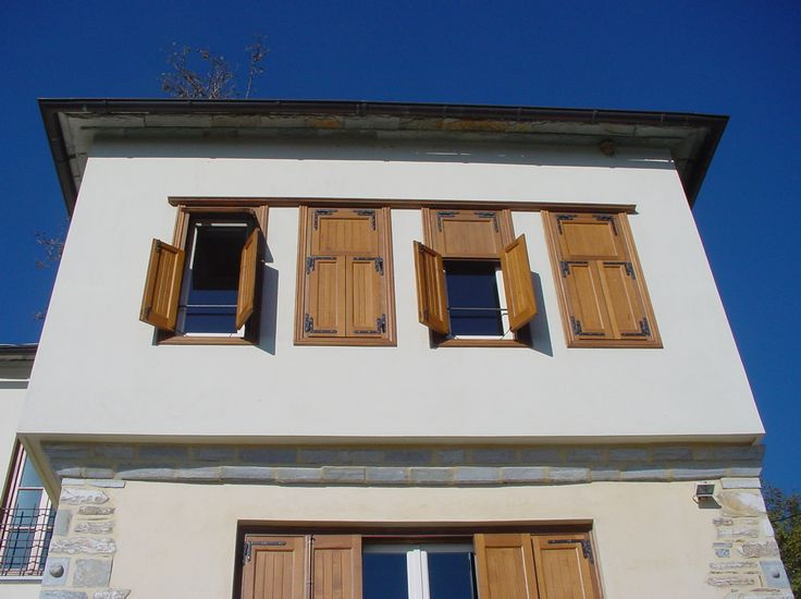 Windows _ exterior | design | residence | shutters | Pelion | stone | traditional | local architecture | construction _ visit us at: www.philippitzis.gr