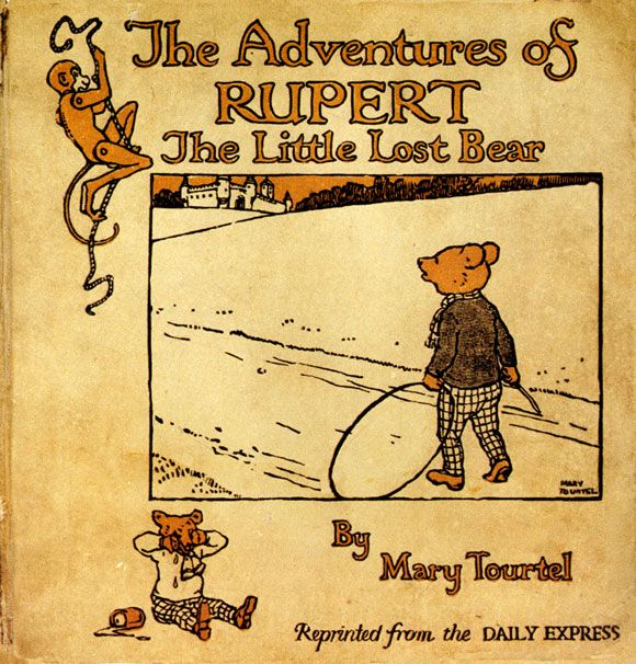 """The 1st """"The Adventures of Rupert, the Little Lost Bear"""" book, was published in 1921 by Thomas Nelson & Sons."""
