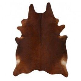 NATURAL COWHIDE RUG REDDISH BROWN