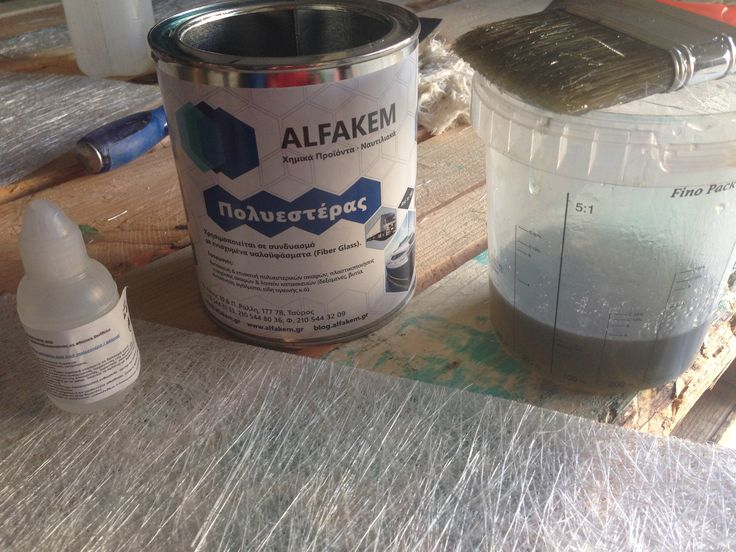 Polyester resin and fiberglass reinforcement for repairing grp boats 🚣🏻
