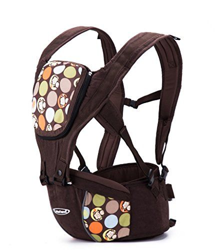 Nursery Backpack / Carrier: Colorland Comfortable Firm Hip Seat Baby Carrier Monkey Coffee * You can get more details by clicking on the image.