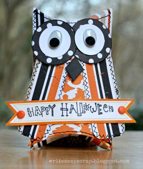 Write Snap Scrap: Tutorial: How To Make An Owl Pillow Box