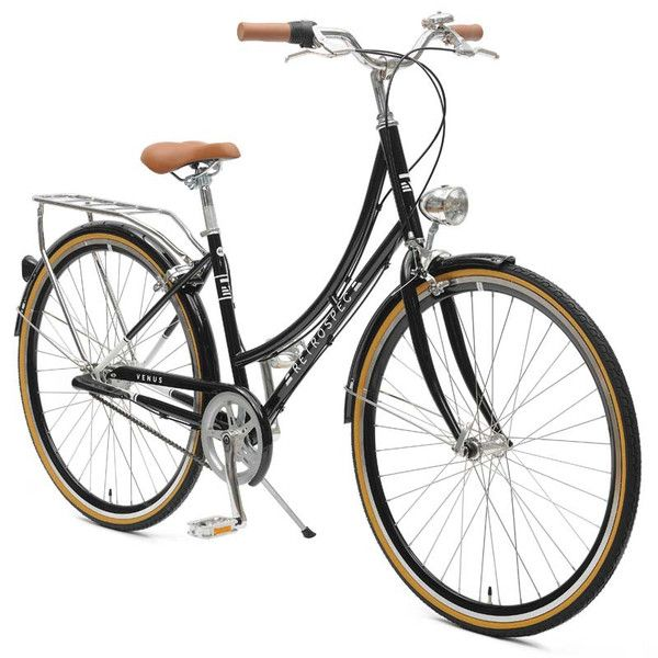 Shop vintage-inspired ladies' step-thru three-speed city bike -- retro frame, headlamp, bell, and rear rack -- starting at $349. Let's ride.