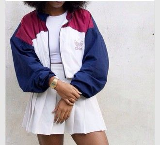 veste vintage adidas femme