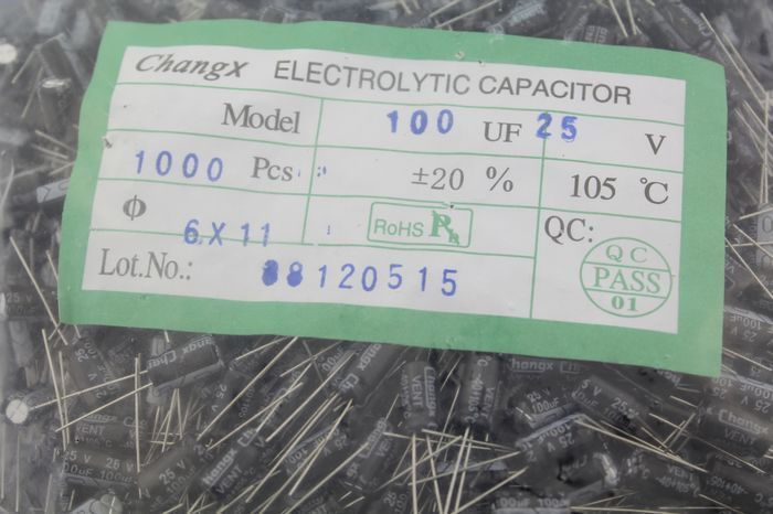 $14.80 (Buy here: https://alitems.com/g/1e8d114494ebda23ff8b16525dc3e8/?i=5&ulp=https%3A%2F%2Fwww.aliexpress.com%2Fitem%2FHigh-quality-electrolytic-capacitor-25-v100uf-electrolytic-capacitor-size-6-x-11-1000-PCS%2F32790560159.html ) High quality electrolytic capacitor 25 v100uf electrolytic capacitor size 6 x 11 1000 PCS for just $14.80