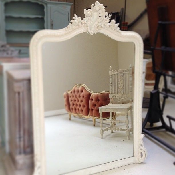 Rococo Mirror Antique Chair And Vintage French Bed