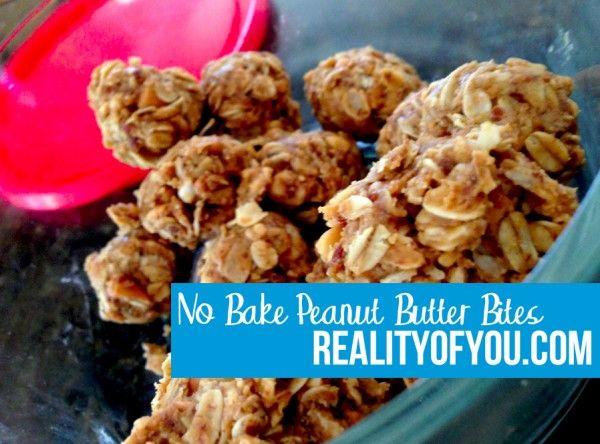 No Bake Peanut Butter Bites: 75 calories per bite!