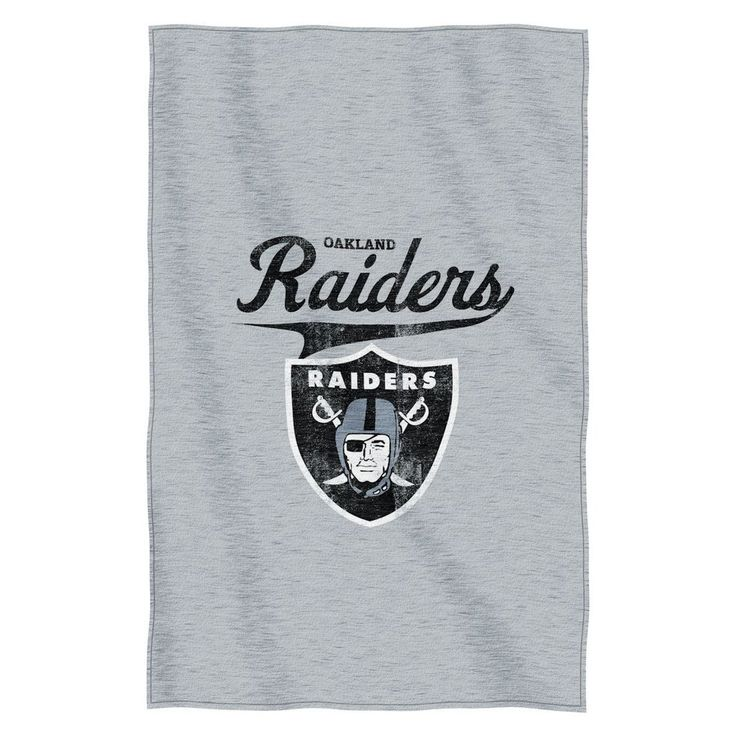 "Oakland Raiders 54""x84""Sweatshirt Blanket - Script Design"