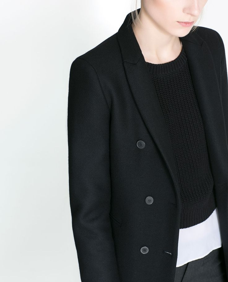MASCULINE DOUBLE BREASTED COAT - Coats - Woman   ZARA United States