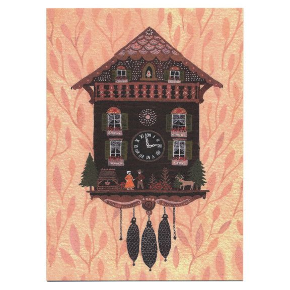 Little Otsu — Cuckoo Clock Card by Becca Stadtlander