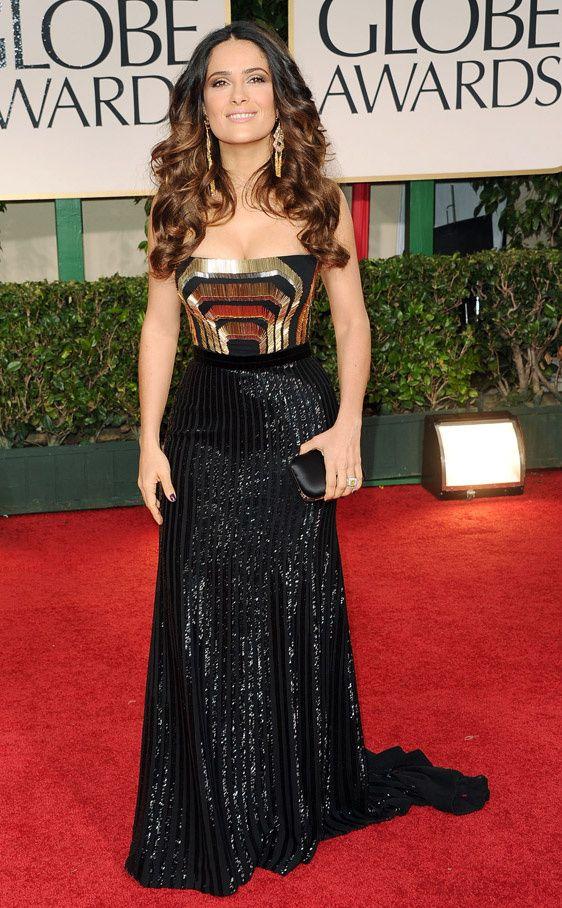 Todas las fotos de los Globos de Oro 2012: Salma Hayek de Gucci