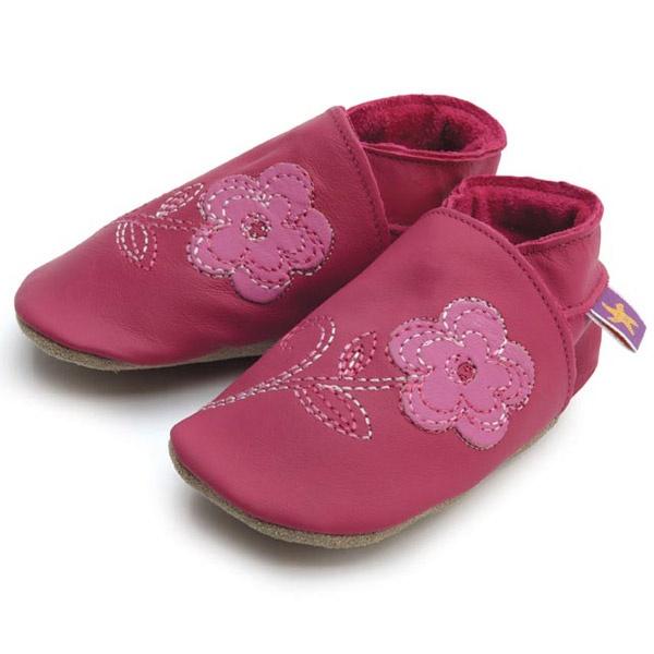 flower fuschia soft shoes