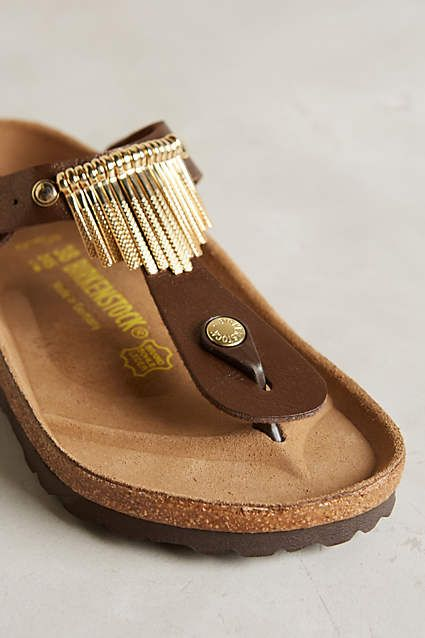 Birkenstock Gizeh Fringe Sandals - anthropologie.com