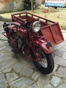 Indian - Scout 600cc, moto + sidecar tipo carga - 1935