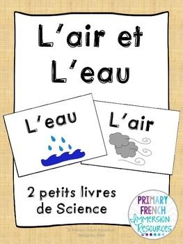 French Science books - Grade 2 - Air and Water
