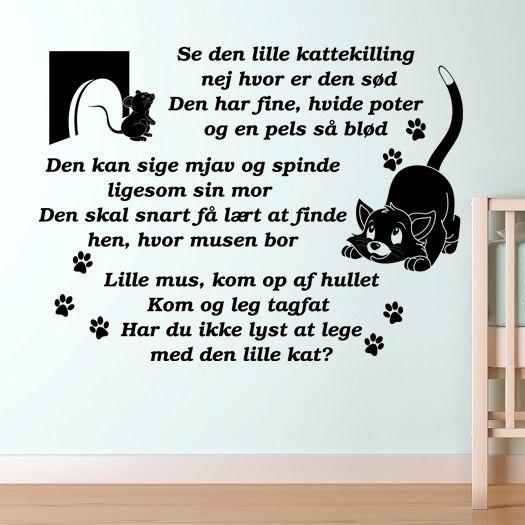 Se den lille kattekilling - Wallstickers - www.nicewall.dk