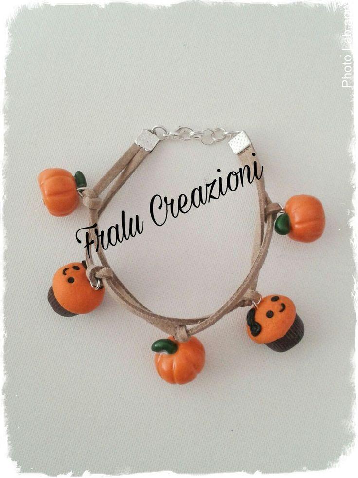 Braccialetto con ciondoli in fimo halloween di FraluCreazioni su Etsy