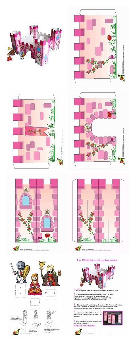 Pink princess castle craft idea