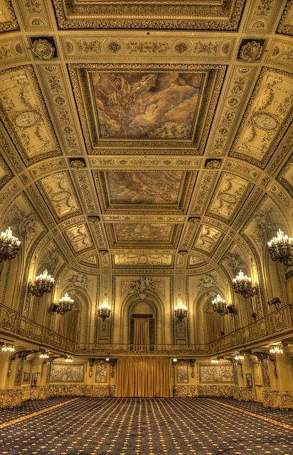 Gold Room, Congress Plaza Hotel, via Flickr.