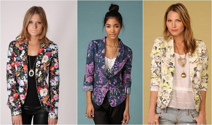 floral printed blazers