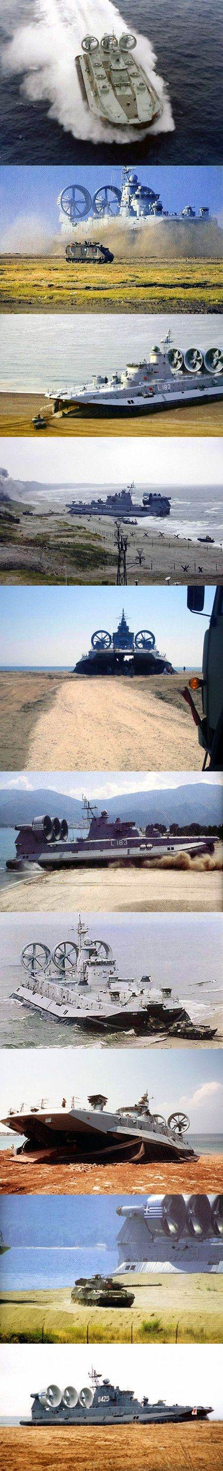 10 Mind-Blowing Pictures, Videos of a Zubr-class Hovercraft, the World's Largest - TechEBlog