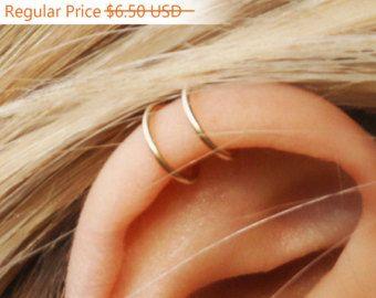 Set van 2 oor Cuffs Oor manchet dubbele Ear Cuff en door Benittamoko