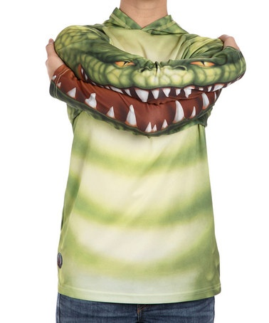 Take a look at this Gator Hooded Tee - Toddler & Kids  by Mouth Man on #zulily today!