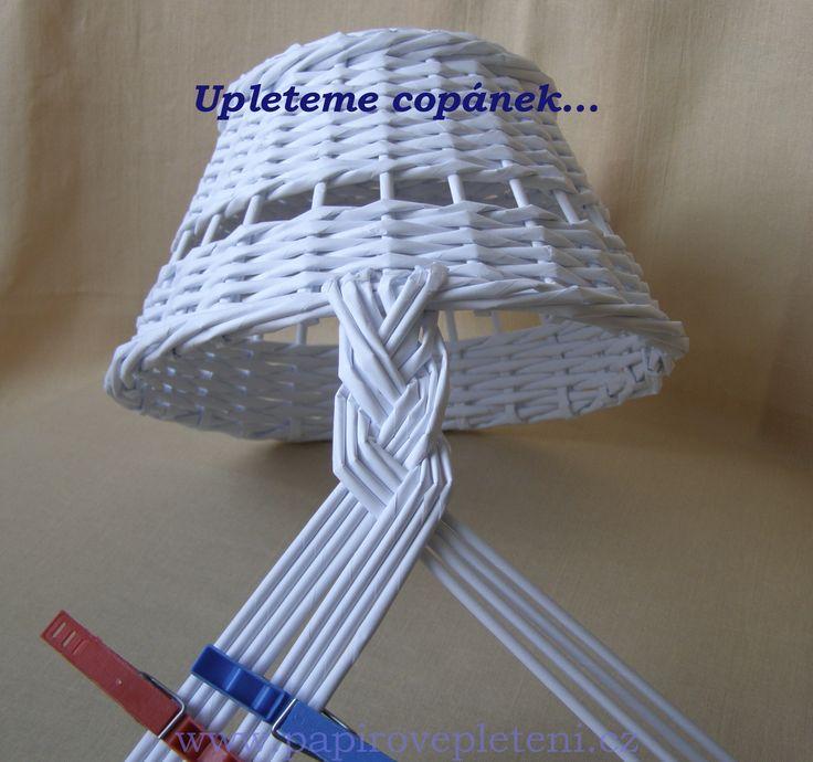 Papírové pletení - Fotoalbum - Návody - Návod na copánkové ucho