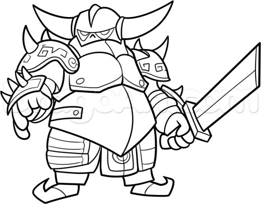 clash clans how to draw royale sketch coloring page - Clash Royale Coloring Pages