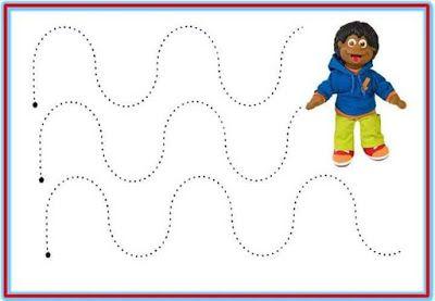 Educación Preescolar: 12 plantillas para trabajar trazos de la escritura...