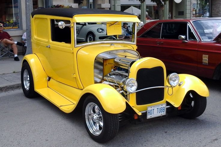 1928 Ford Model A, downtown car show, St Marys, Ontario, August 2014
