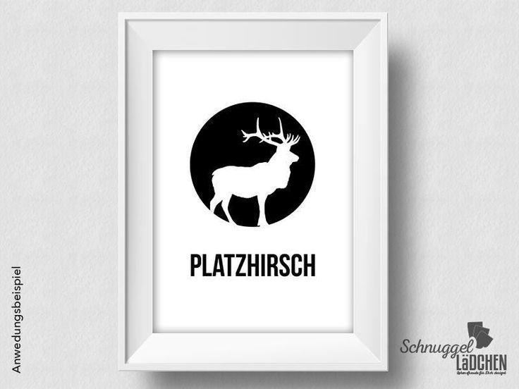 Kunstdruck - Platzhirsch  - von Schnuggellaedchen auf DaWanda.com