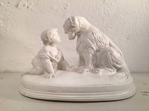 "On #QuirkySunday we bring you a lovely Swedish ""Don't you speak?""-figurine with boy and dog"