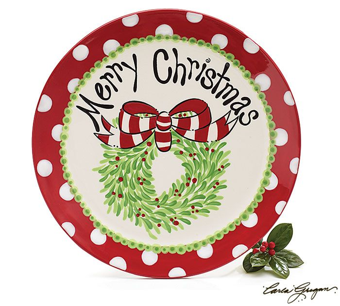 \u003cbr\u003eHand-painted ceramic Merry Christmas plate with raised design. Inidually gift X 9 set of  sc 1 st  Pinterest : christmas ceramic plates - pezcame.com