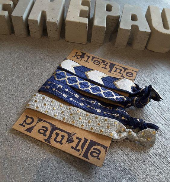 Haarbänder - Haargummi Armband geknotet - ein Designerstück von KleinePaula bei DaWanda