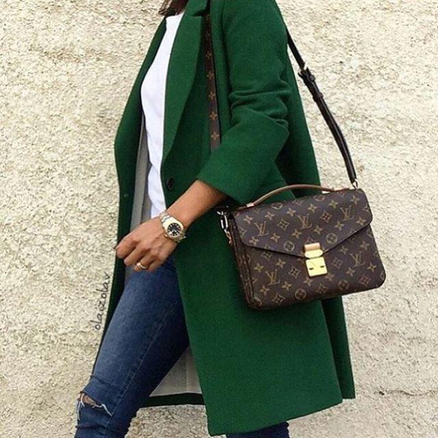 #greencoat  #louisvuittonbag #minimalism #simple #streetchic #streetstyle #chic