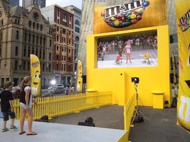 Exhibition Stand Activity Ideas : Brand activation for mmschocolate hypeadvertising