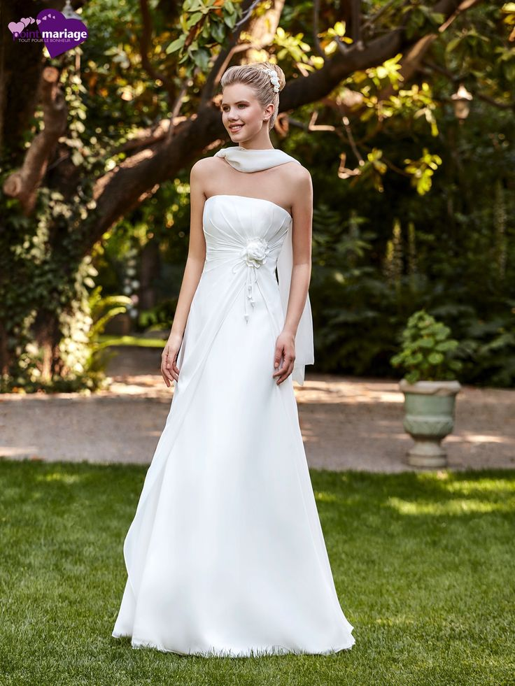 Robe de mariée Sonora, robe de mariée fluide, robe de mariage bustier sur Point…