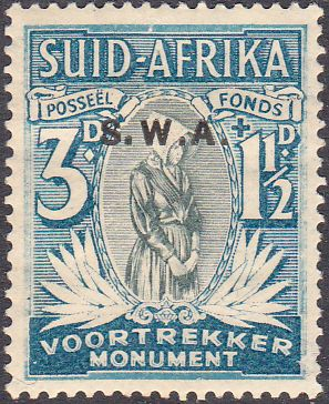 South West Africa 1935 Voortrekker Memorial Afrikanns SG 95 Fine Mint SG 95 Scott B4 Other British Commonwealth stamps for sale here