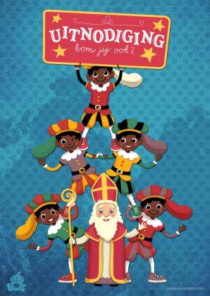 Sinterklaaskaarten.....Invitation for het Sinterklaasfeestje!