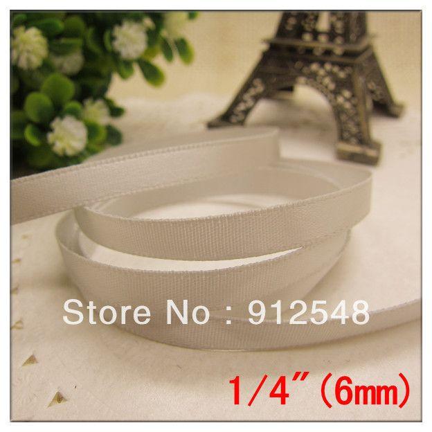 Энн Модные Аксессуары сплошной цвет 1/4 ''(6 мм) ленты атласные ленты упаковки подарка свадебные украшения, 100 100yards/roll, cs601