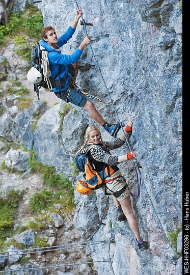 Try rock climbing is an adventurous first date idea for an outdoor date.  Note: it's all uphill from here!  #dating #relationships