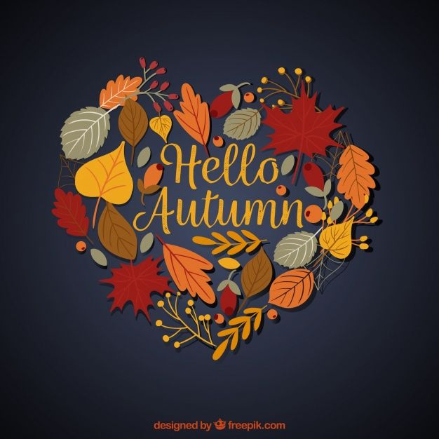 Free vector Autumnal background with heart shape #22589