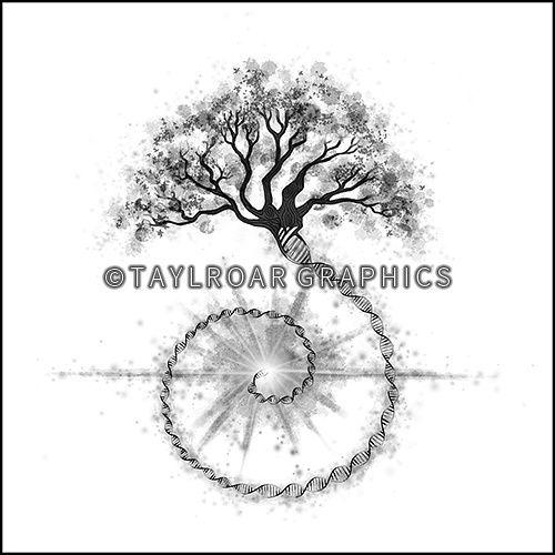 The tree of life custom tattoo design. www.taylroargraphics.com
