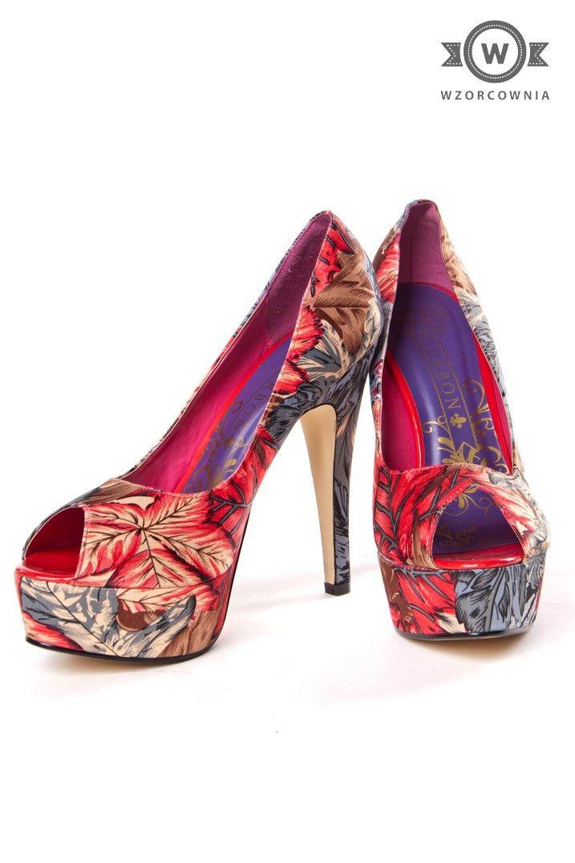 >> Wzorzyste #szpilki na platformie #Bourbon #Wzorcownia online - Wzorcownia online #heels