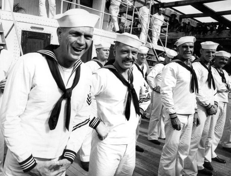 #Sixties | Steve McQueen and Richard Attenborough between takes of The Sand Pebbles, 1966