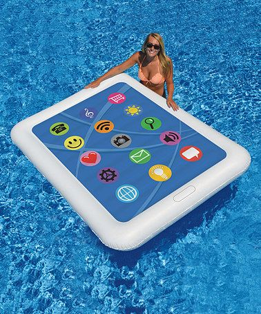 Look at this #zulilyfind! Tablet Double Pool Float #zulilyfinds