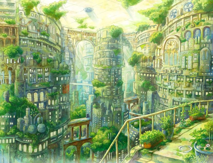 What an amazing concept for a city! One day I bet it will even be a reality. Maybe one not so far off...   Domed Green City - Kemi Neko